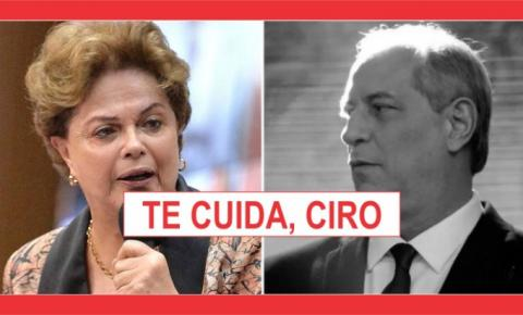 A DISPUTA DE CIRO É COM BOLSONARO.